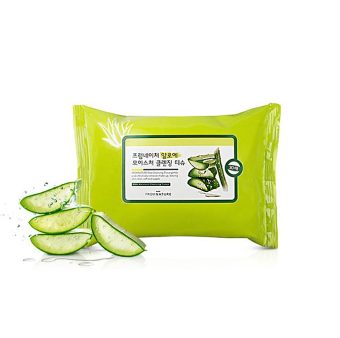 【80%OFF アウトレット】【使用期限2019年3月30日まで】済州島産 緑茶モイスチャークレンジングティッシュ 30枚